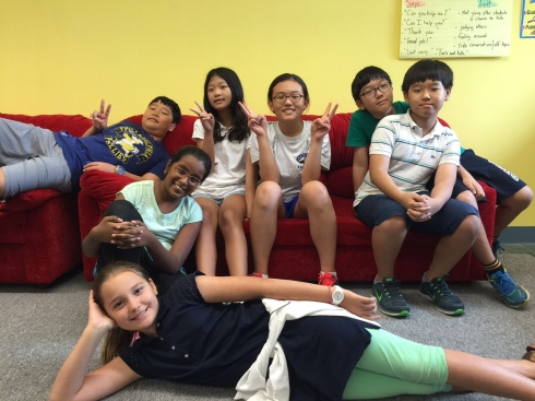 August 14, 2015 - Human Jelly Kings: Yejune aka Ted, Praseedha, Seohyeon, Hyeonjoo, ChanWoo, Chanmin and Sophia (Photo by Mr. Martin)