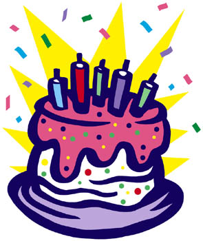 Clipart Birthday Dancing Cake : September Birthdays Linking to Thinking