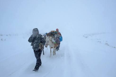 Trail to Kars, Turkey. Photo by Murat Yazar (Facebook Page - Out of Eden Walk, Dec. 9, 2014)