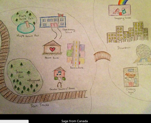 Out of Eden Learn student shares a detailed neighborhood map from Canada (Image Source: Out of Eden Learn)