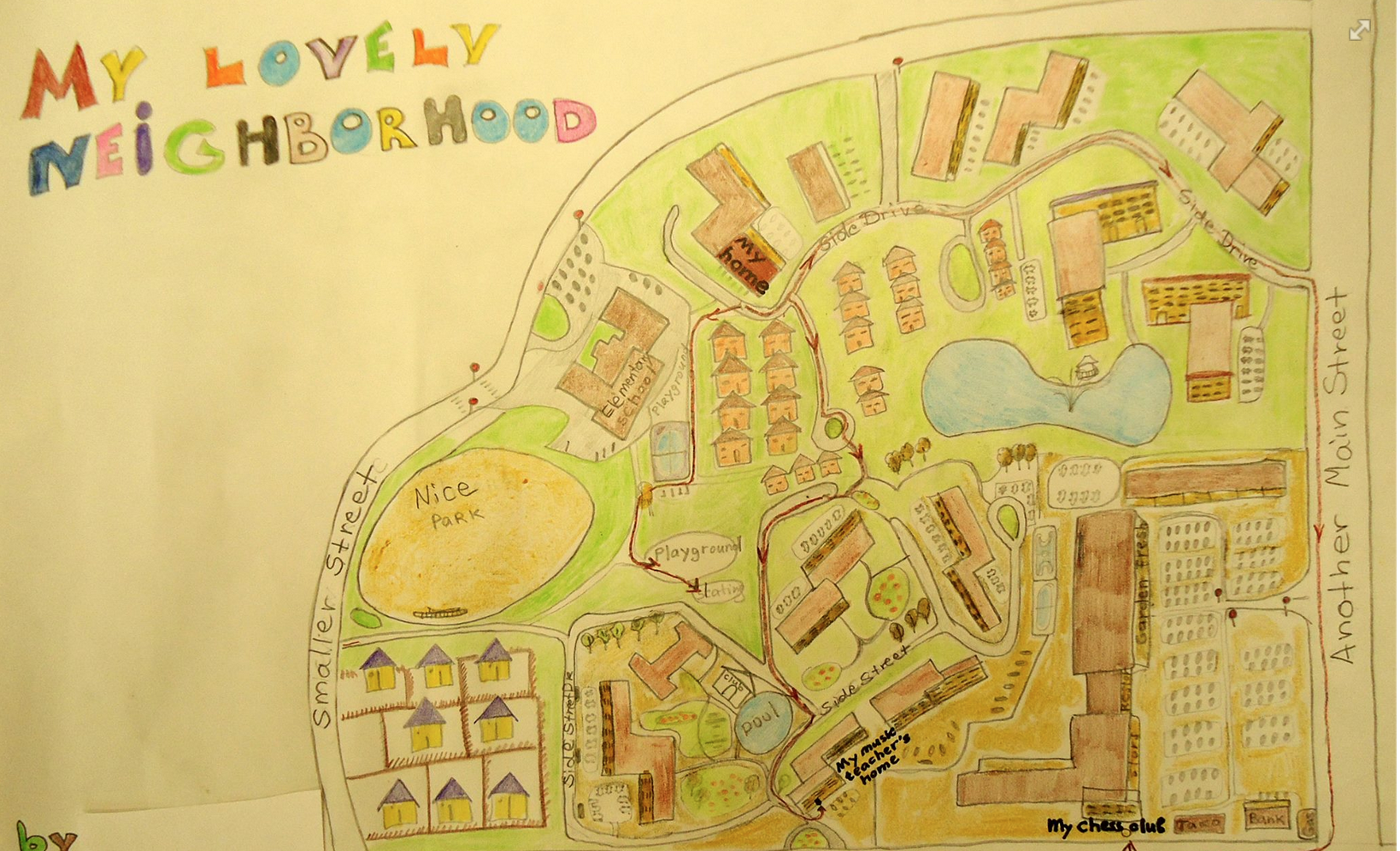 A neighborhood map by Out of Eden Learn student in Illinois, United States