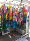 Paper cranes sent by school children from around the world.
