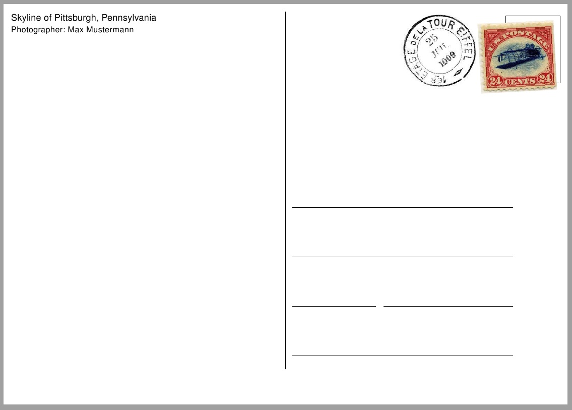 Marvelous Electronic Postcard Template