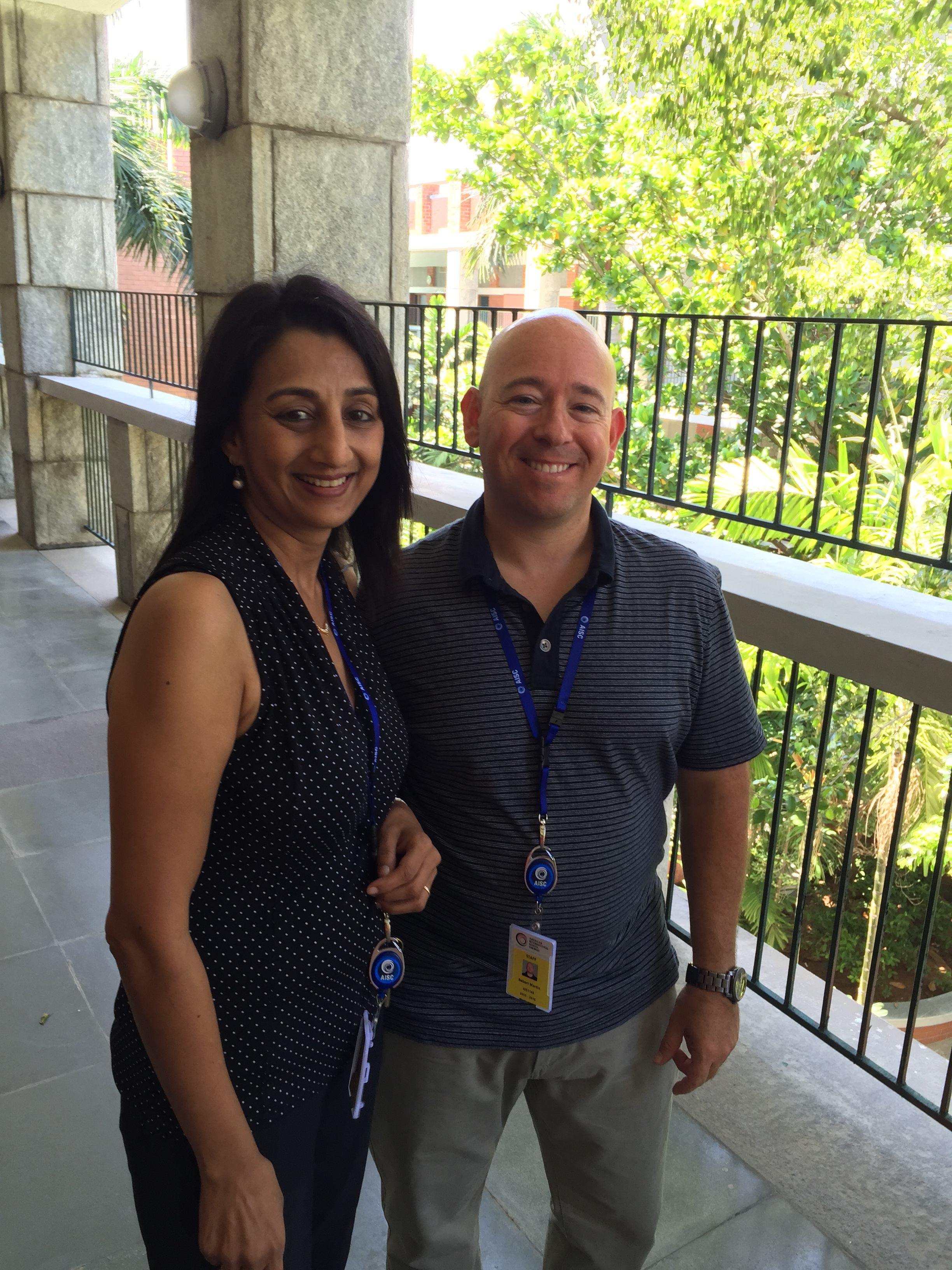 Ms. Jaya, EAL teacher, and Mr. Martin, Social Studies (Photo by Rob Martin)
