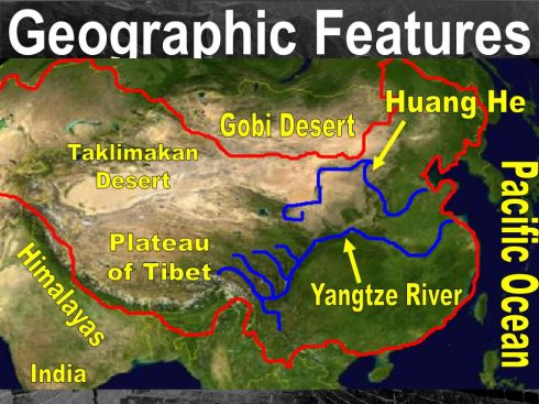 Physical Feature Map Of China.China Linking To Thinking